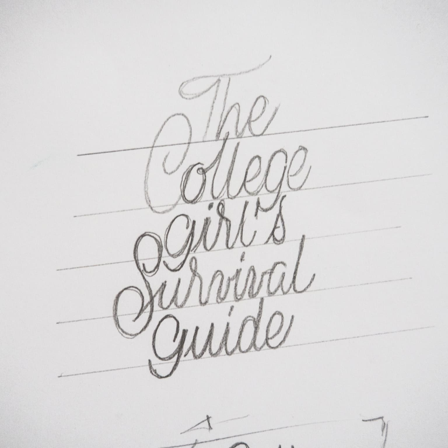 Handlettering book cover