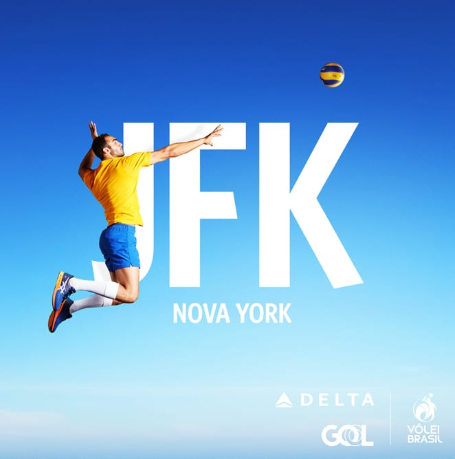 Delta Airlines partners with Brasilian Voleyball Federation