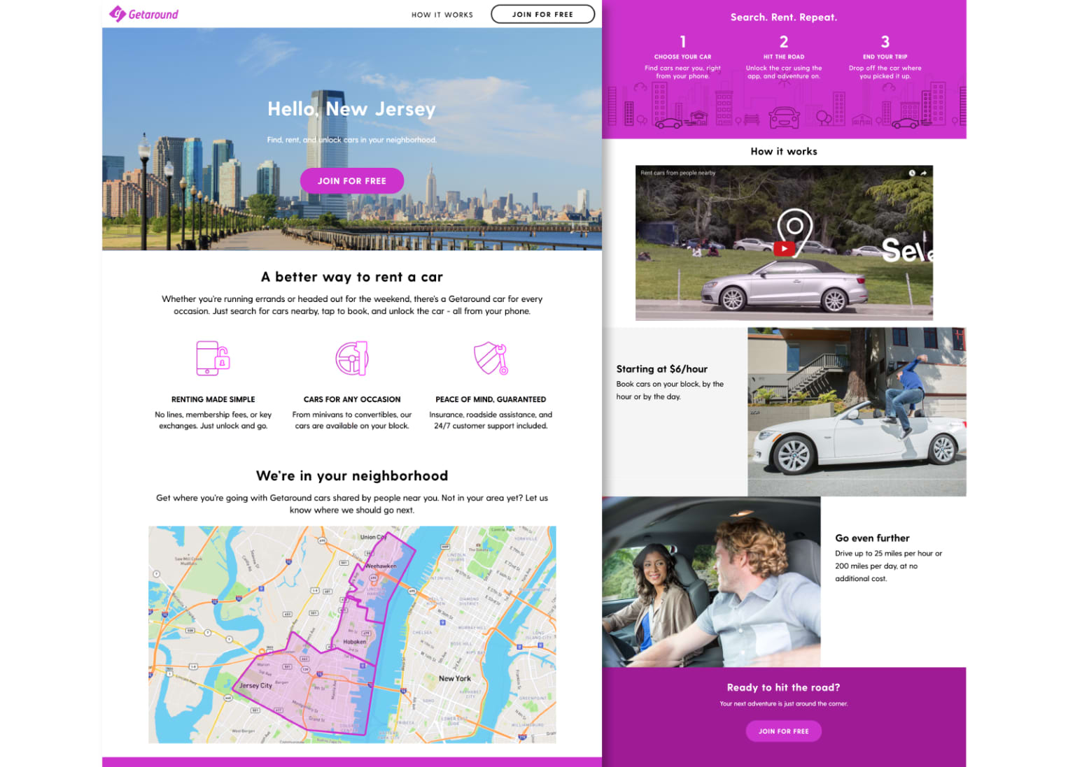 New Jersey Launch Landing Page