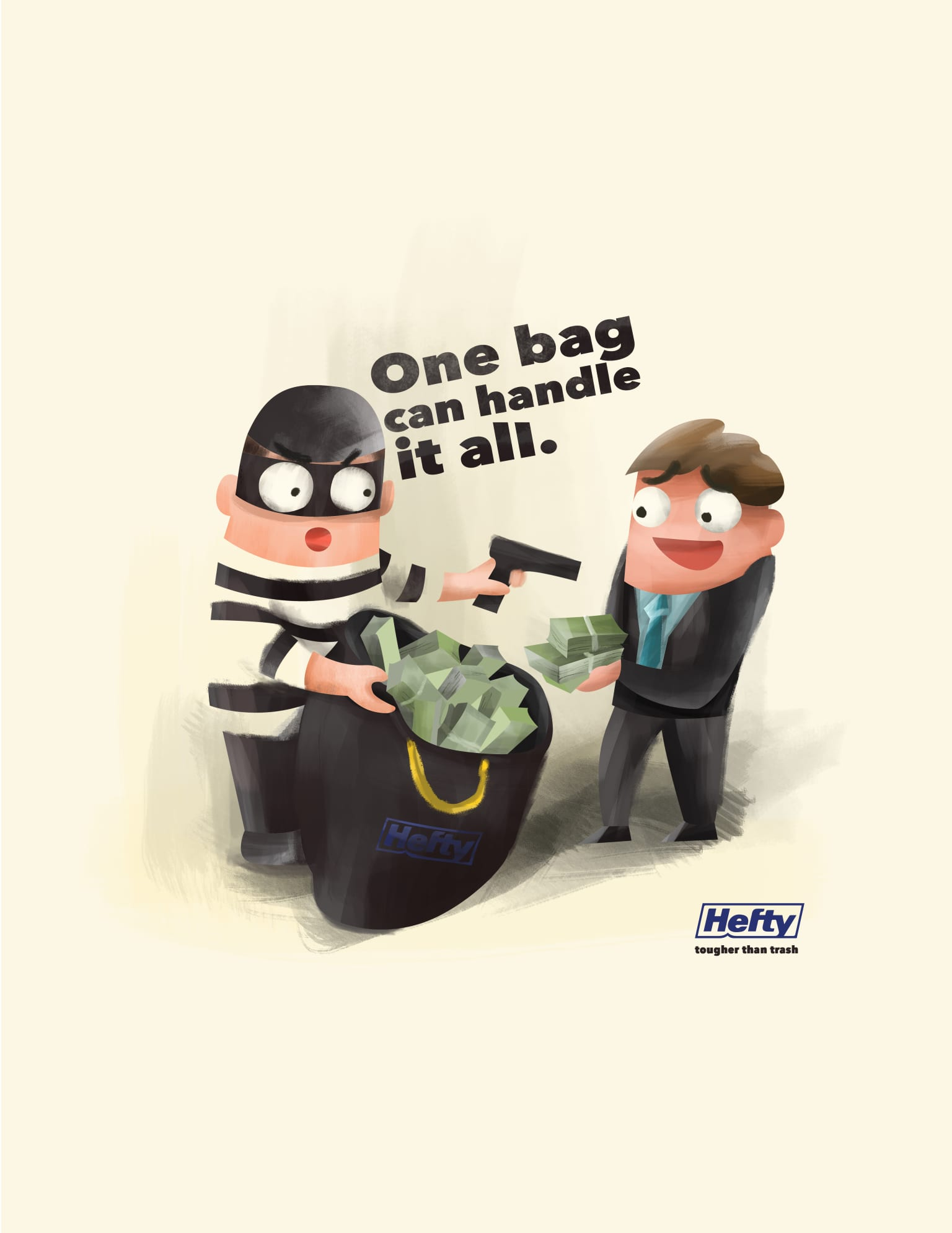 Hefty #One Bag Can Handle It All
