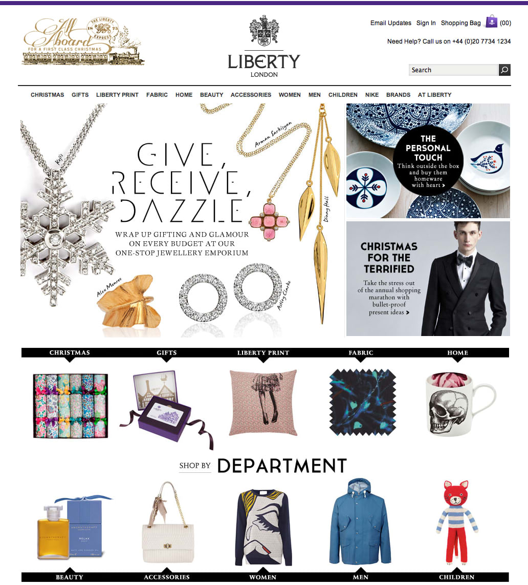 LIBERTY LONDON – CREATIVE LEAD, DIGITAL RELAUNCH