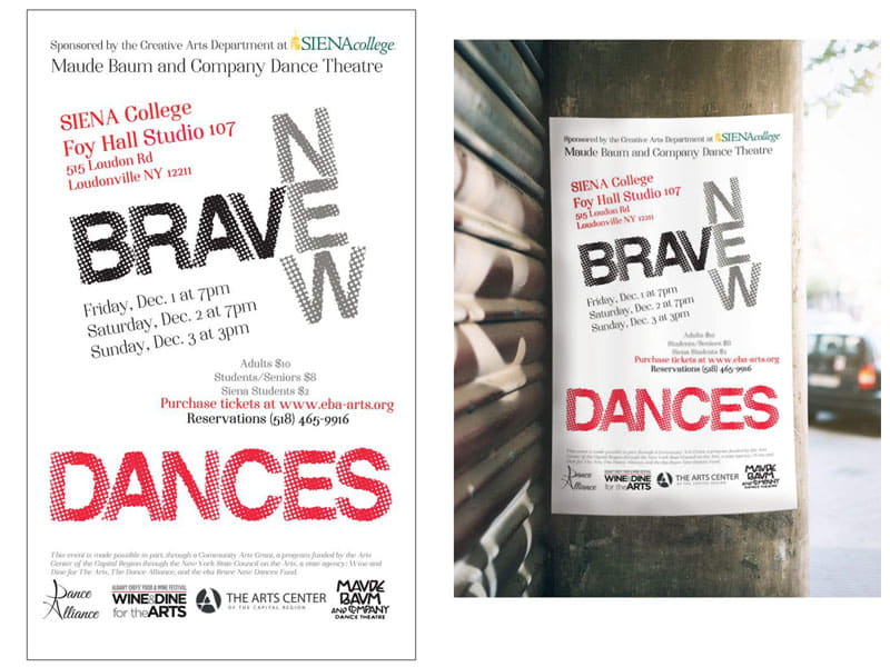 Brave New Dances Poster Design