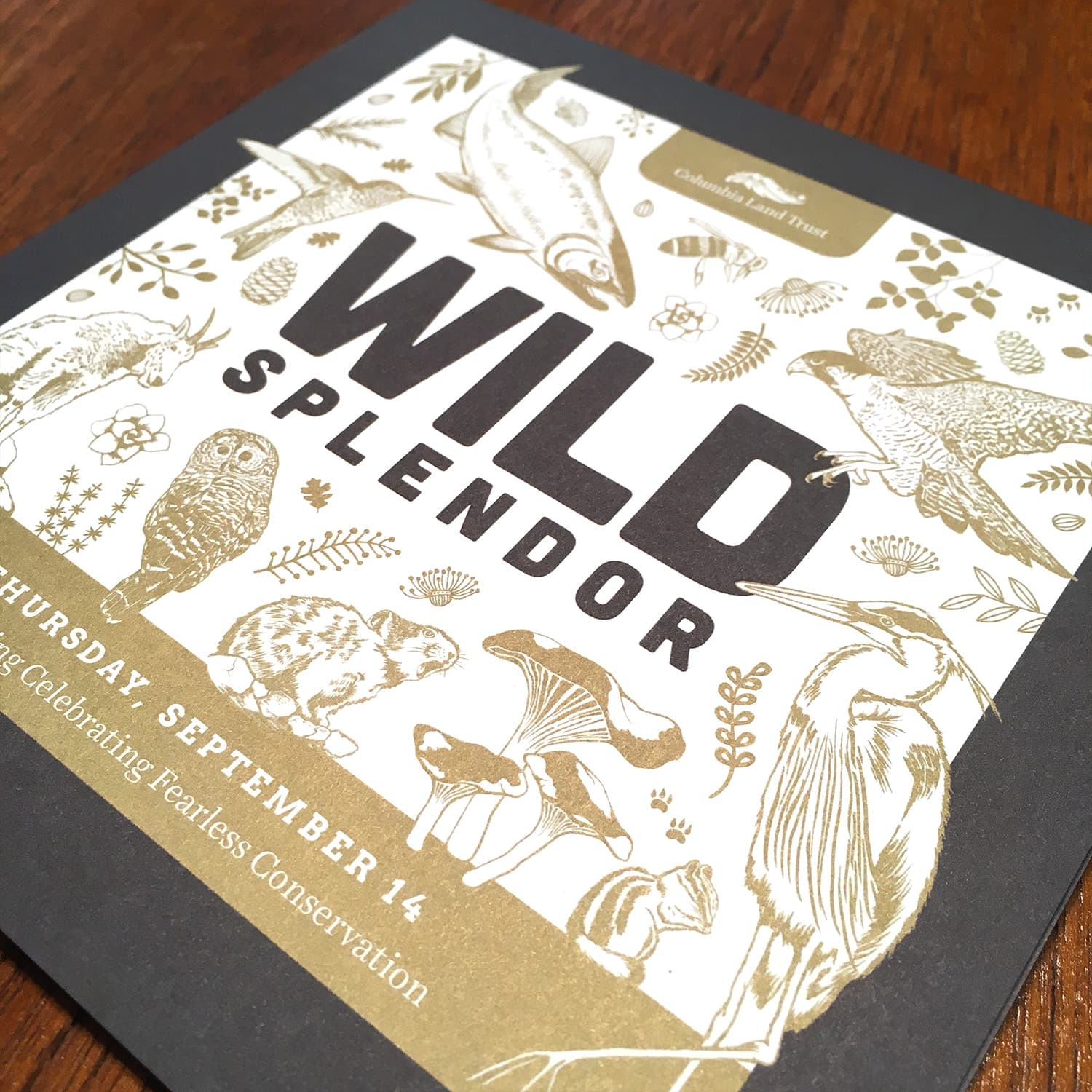 Wild Splendor fundraiser invitation