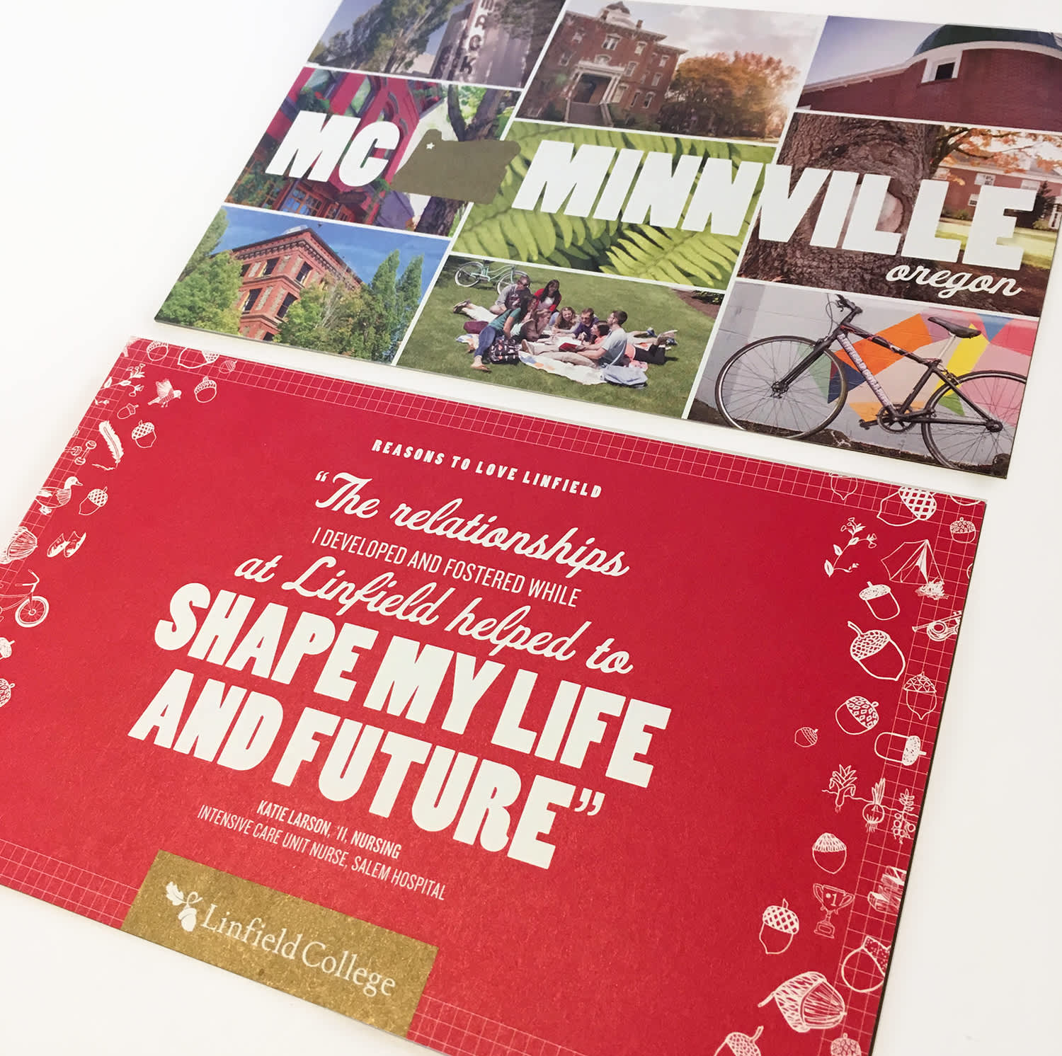 Linfield College marketing materials