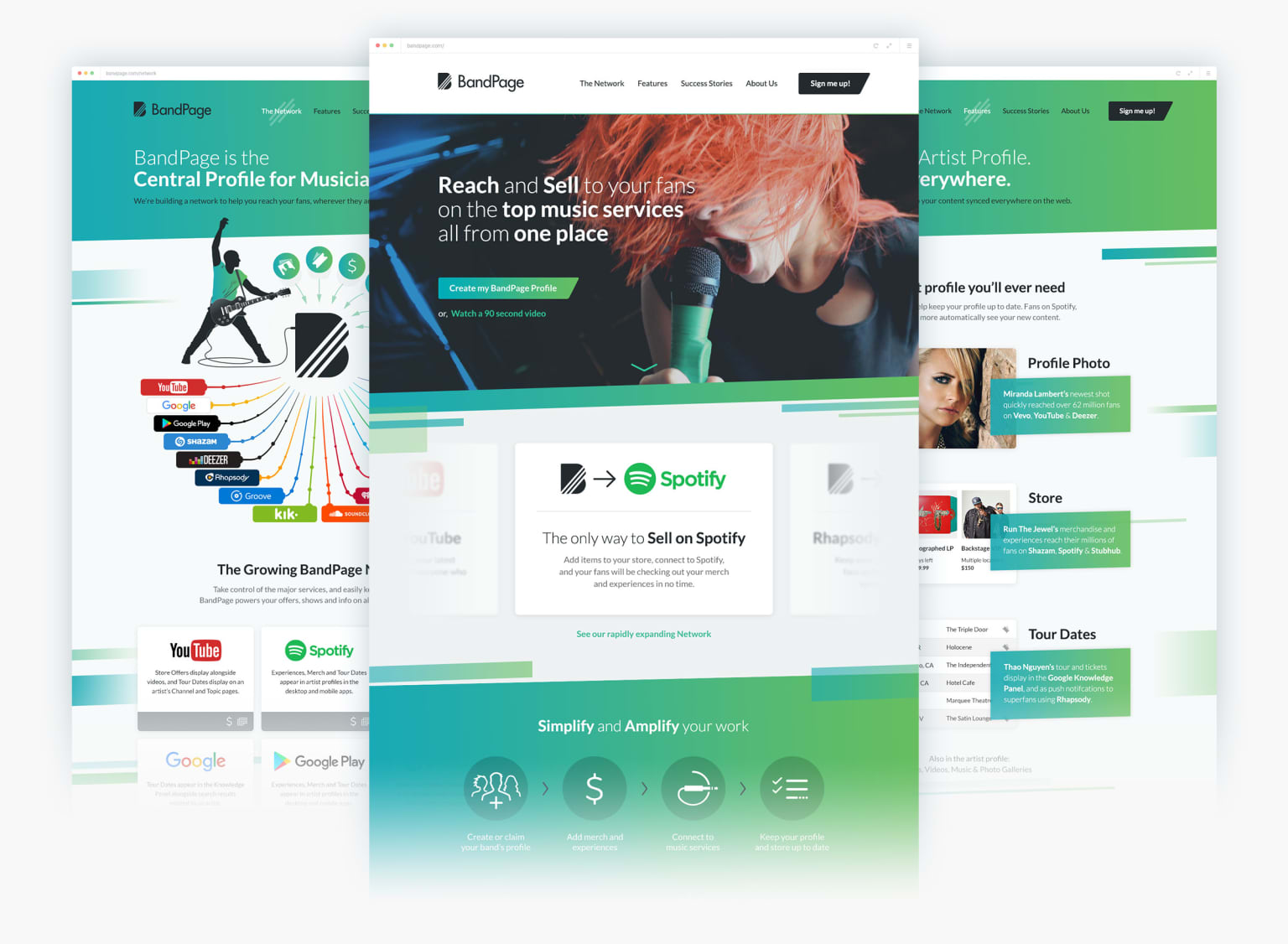 BandPage - Marketing Site