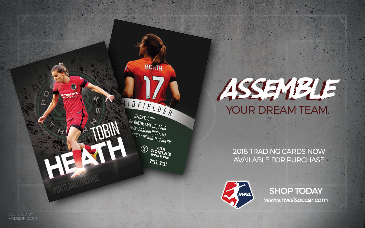 NWSL Trading Card Concepts