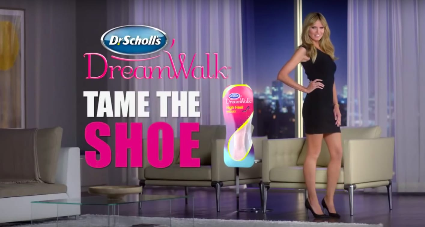 "Dr. Scholl's, ""Tame the Shoe"" with Heidi Klum"