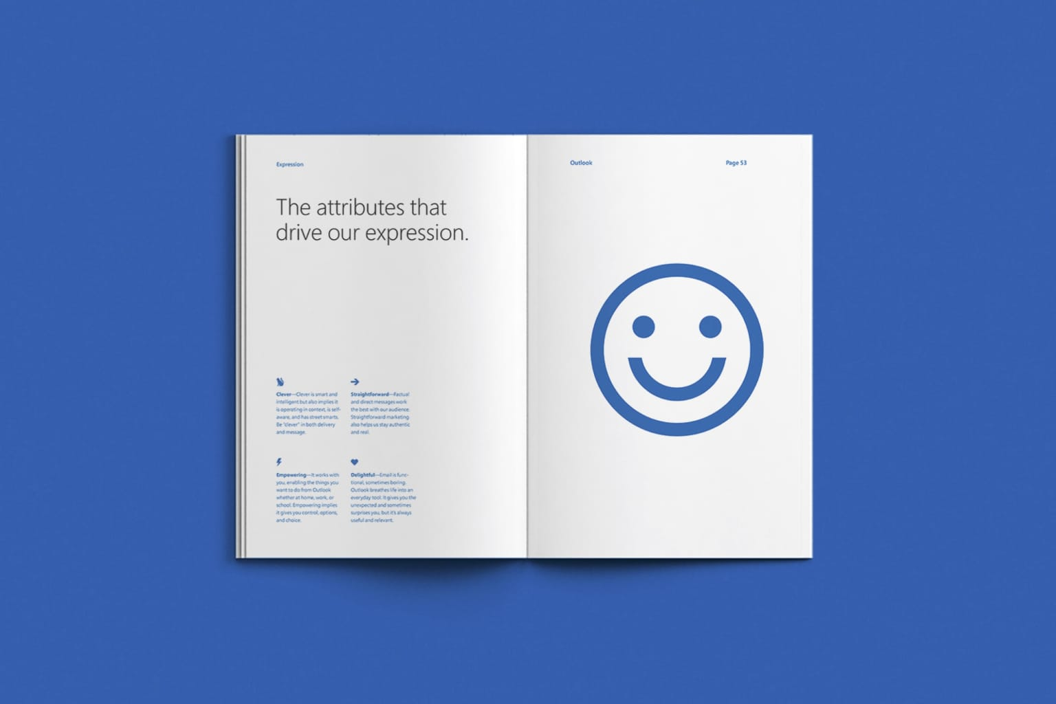 Microsoft Outlook brand book