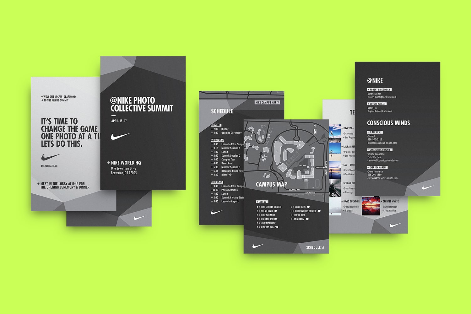 Nike Photo Collective Welcome Kit