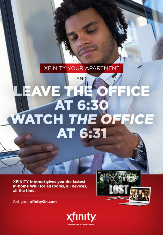 XFINITY out of home posters