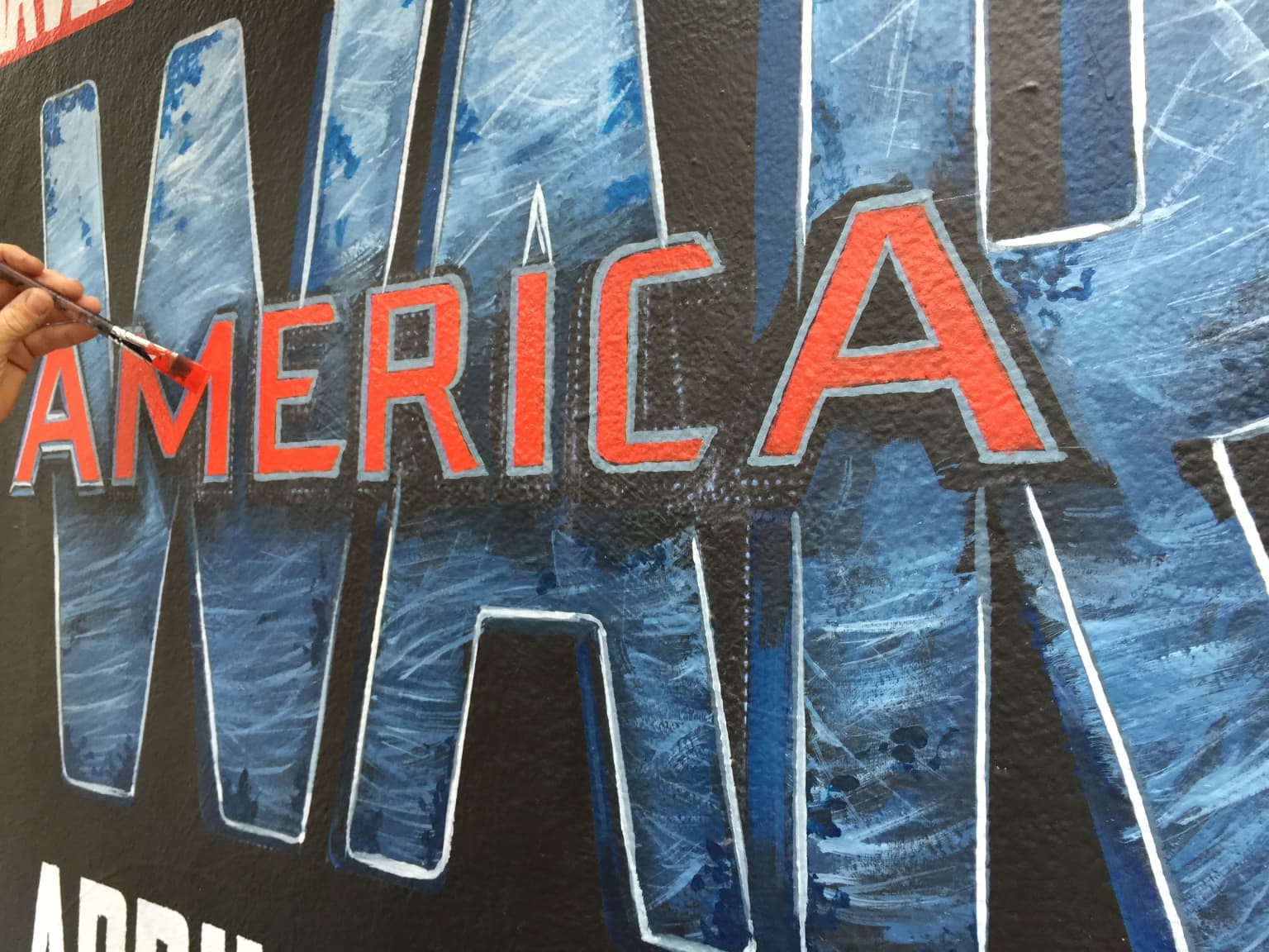 Captain America Civil War Film Mural Advertisement
