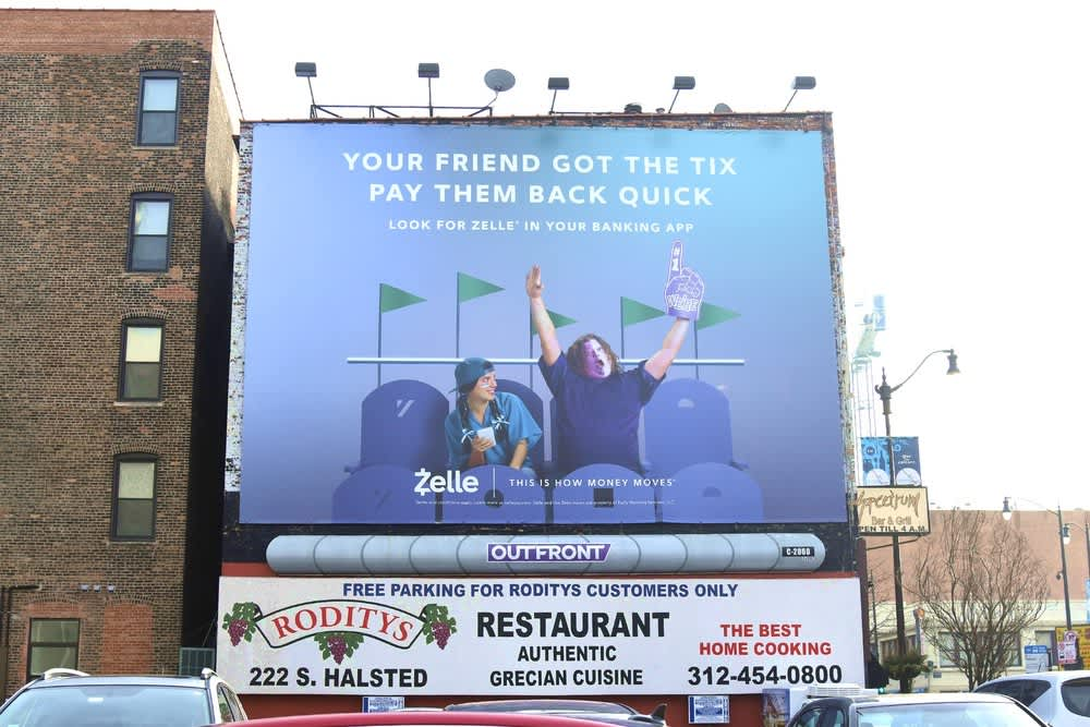 Zelle Online and OOH Campaign