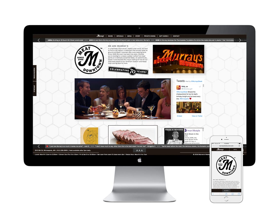 """Murray's Steakhouse """"Meat Downtown – Since 1946"""" Brand Positioning"""