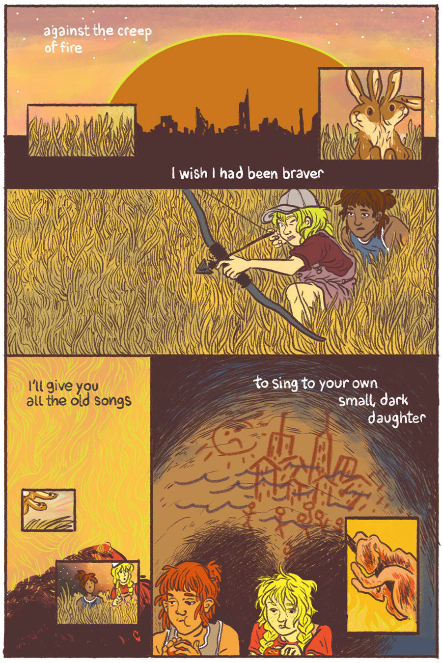 """""""What They Gave You,"""" short comic story for Warmer, a Comics Anthology about Climate Change"""