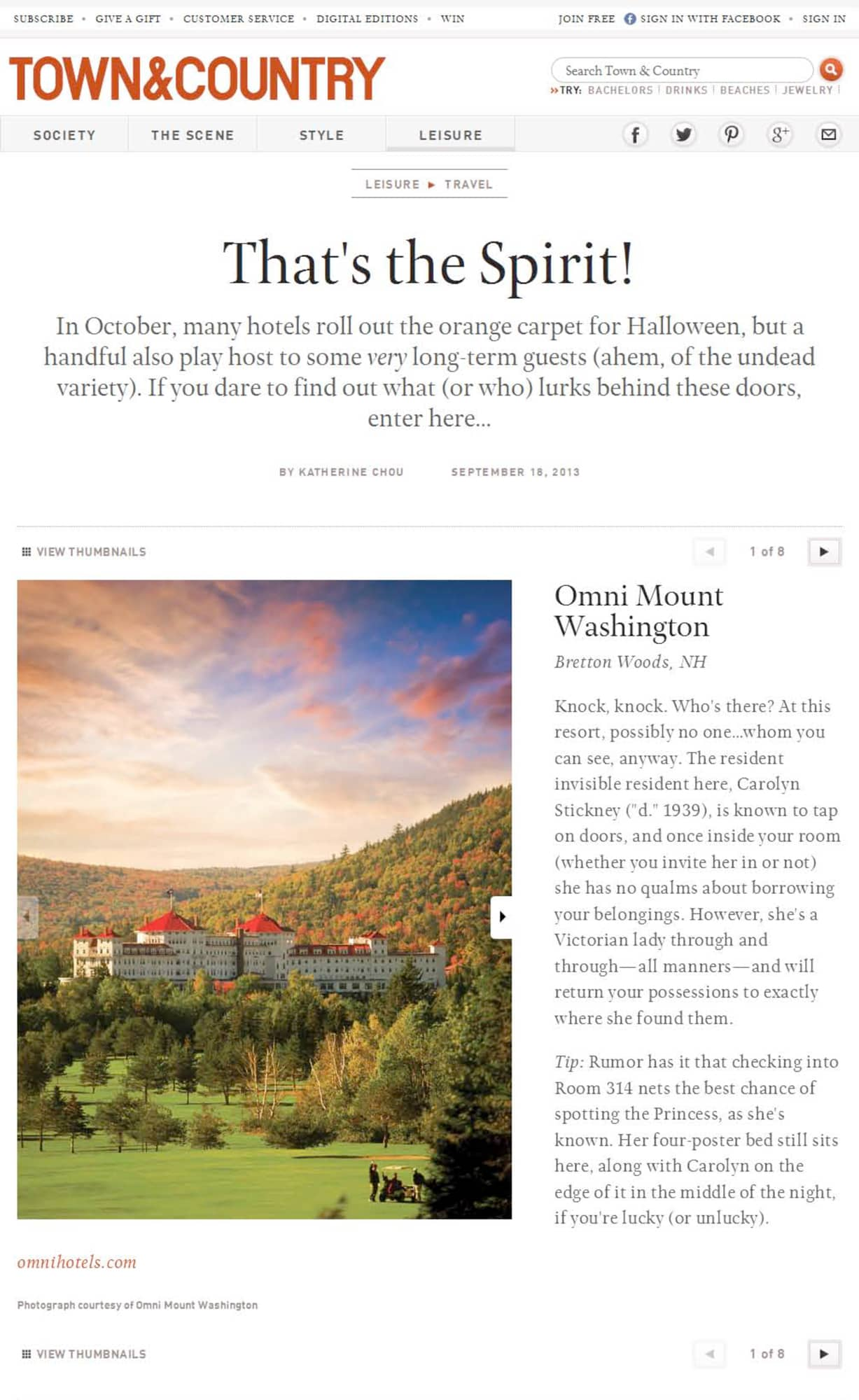 """Town & Country: """"That's the Spirit!"""""""