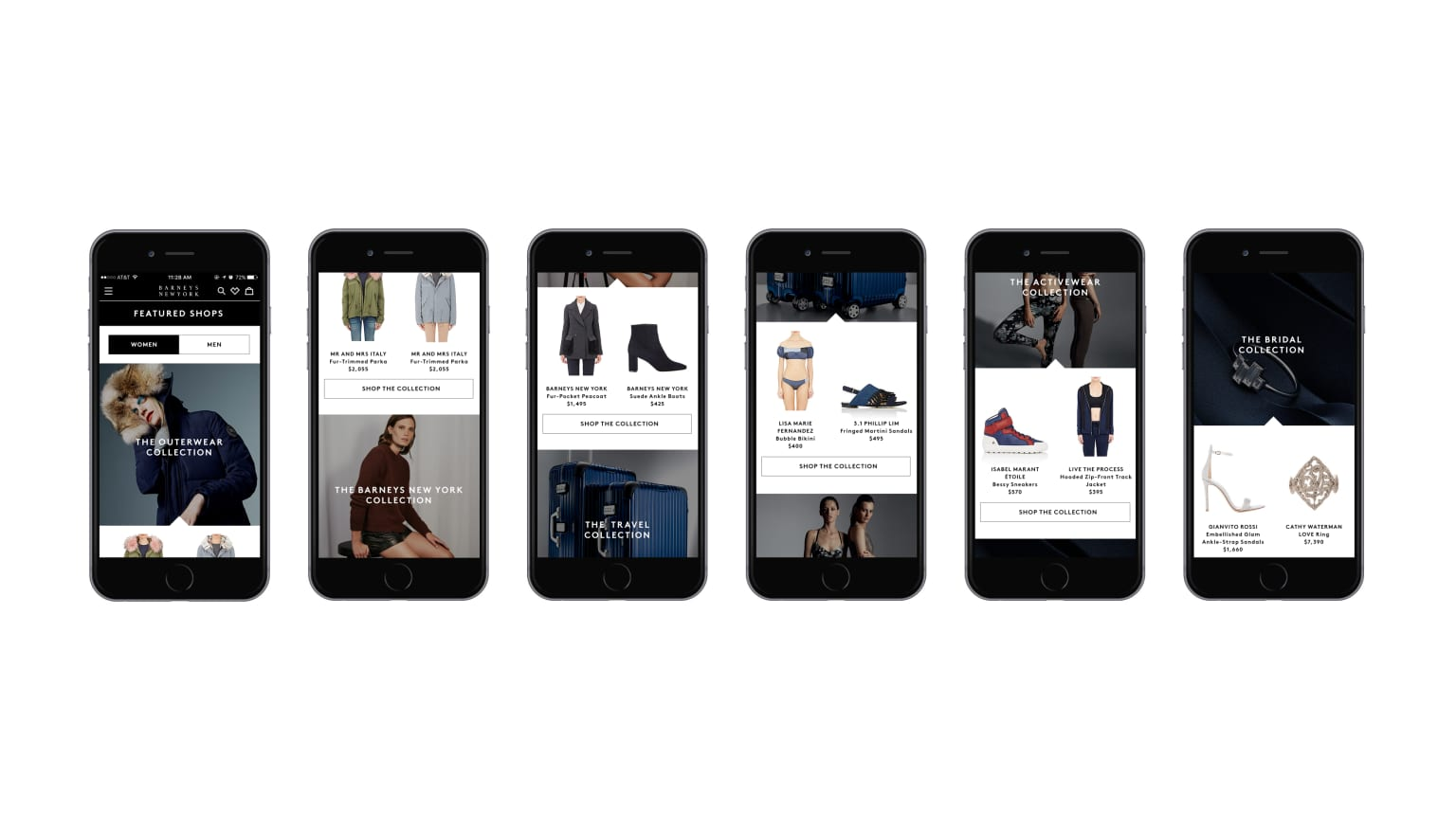 Barneys New York iphone App Design