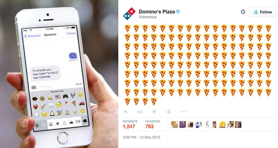 Dominos Emoji Ordering