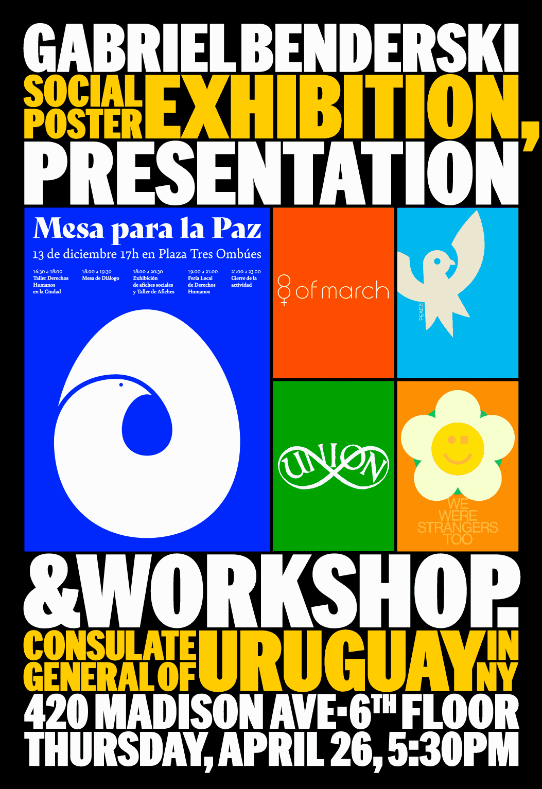Social Poster Exhibition, Presentation and workshop