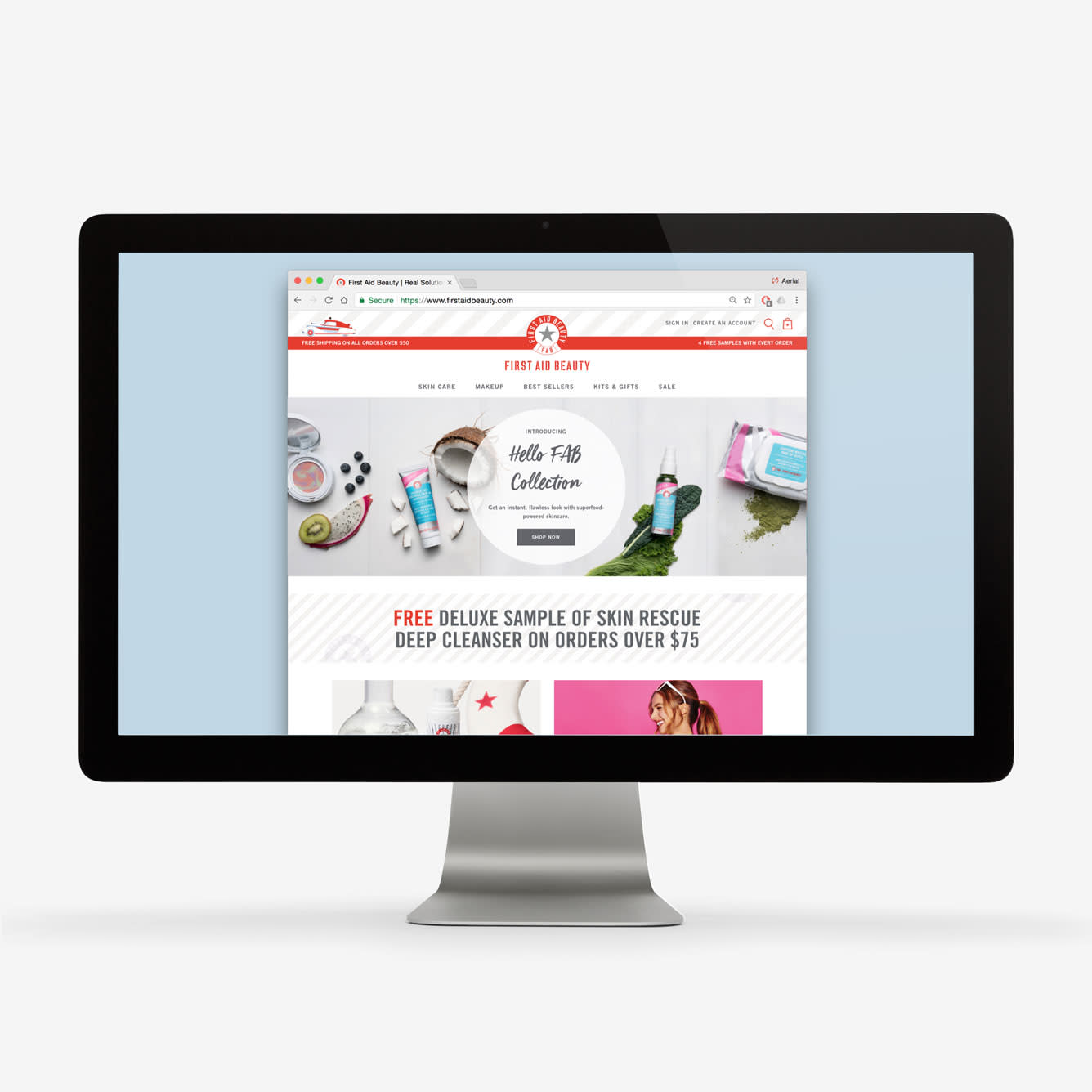 First Aid Beauty - Website & Print Collaterals