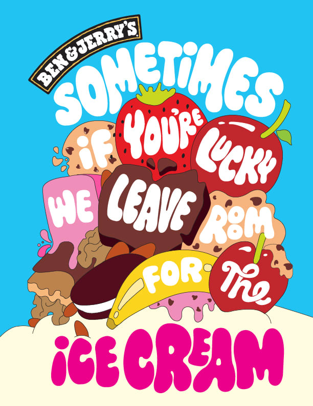 """Ben & Jerry's """"Chunks and Swirls"""" Campaign"""