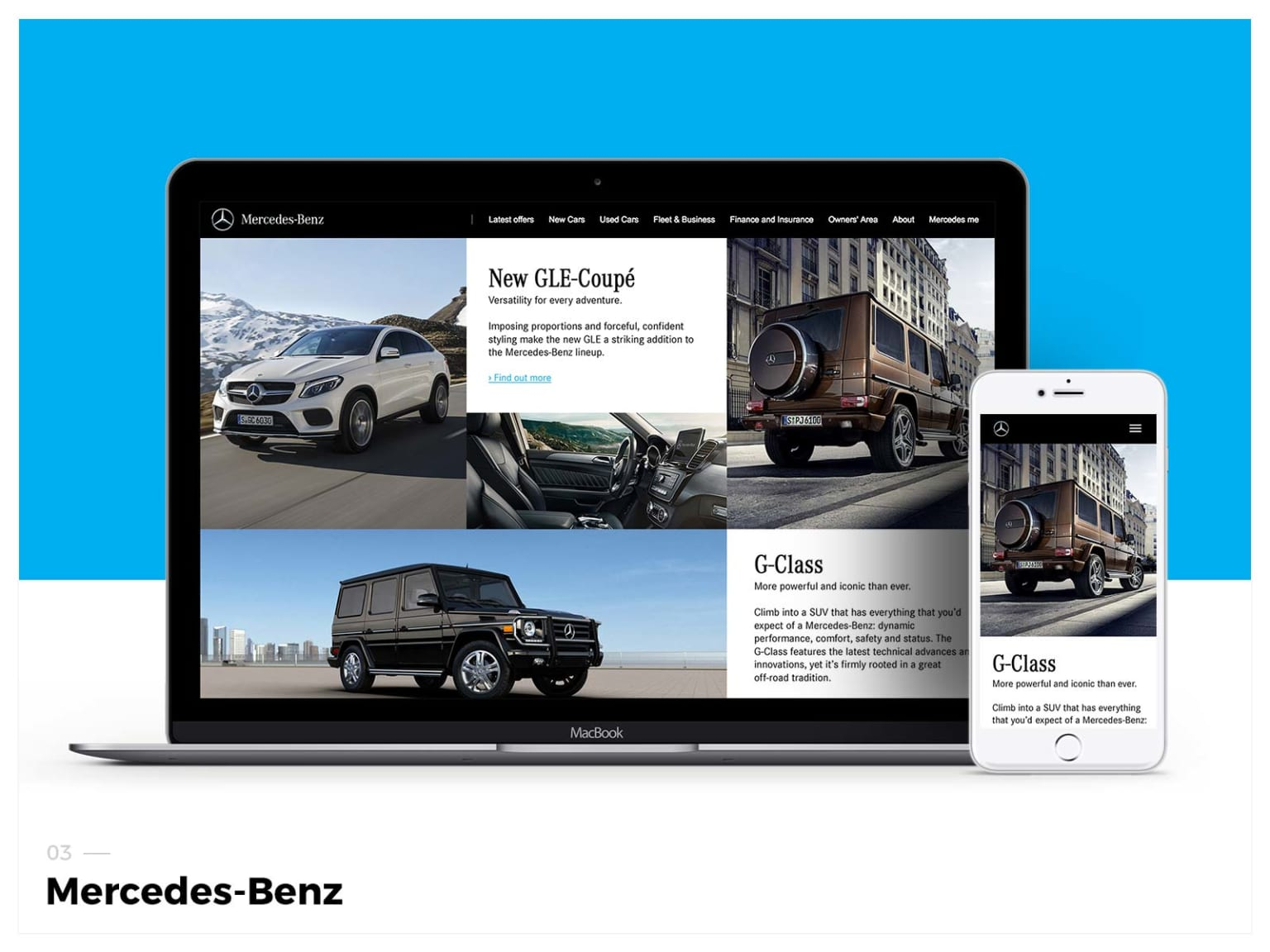 Mercedes-Benz SUV Webpage and BAU Promotion Banners