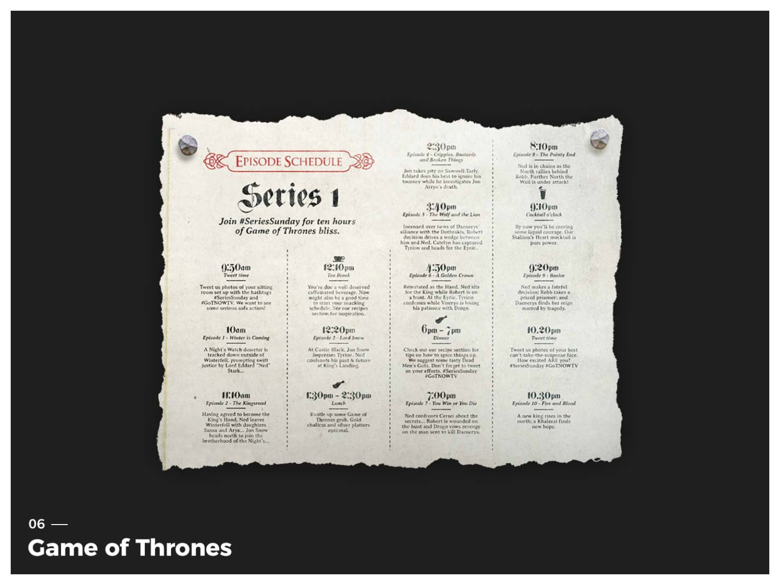 Game of Thrones / NowTV Survival Guides