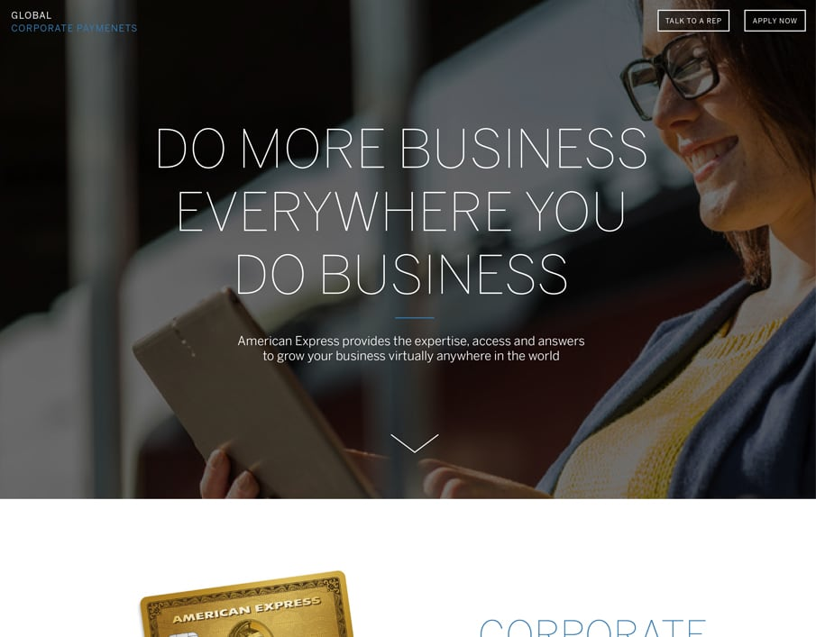 American Express GCP Branding & Site Redesign