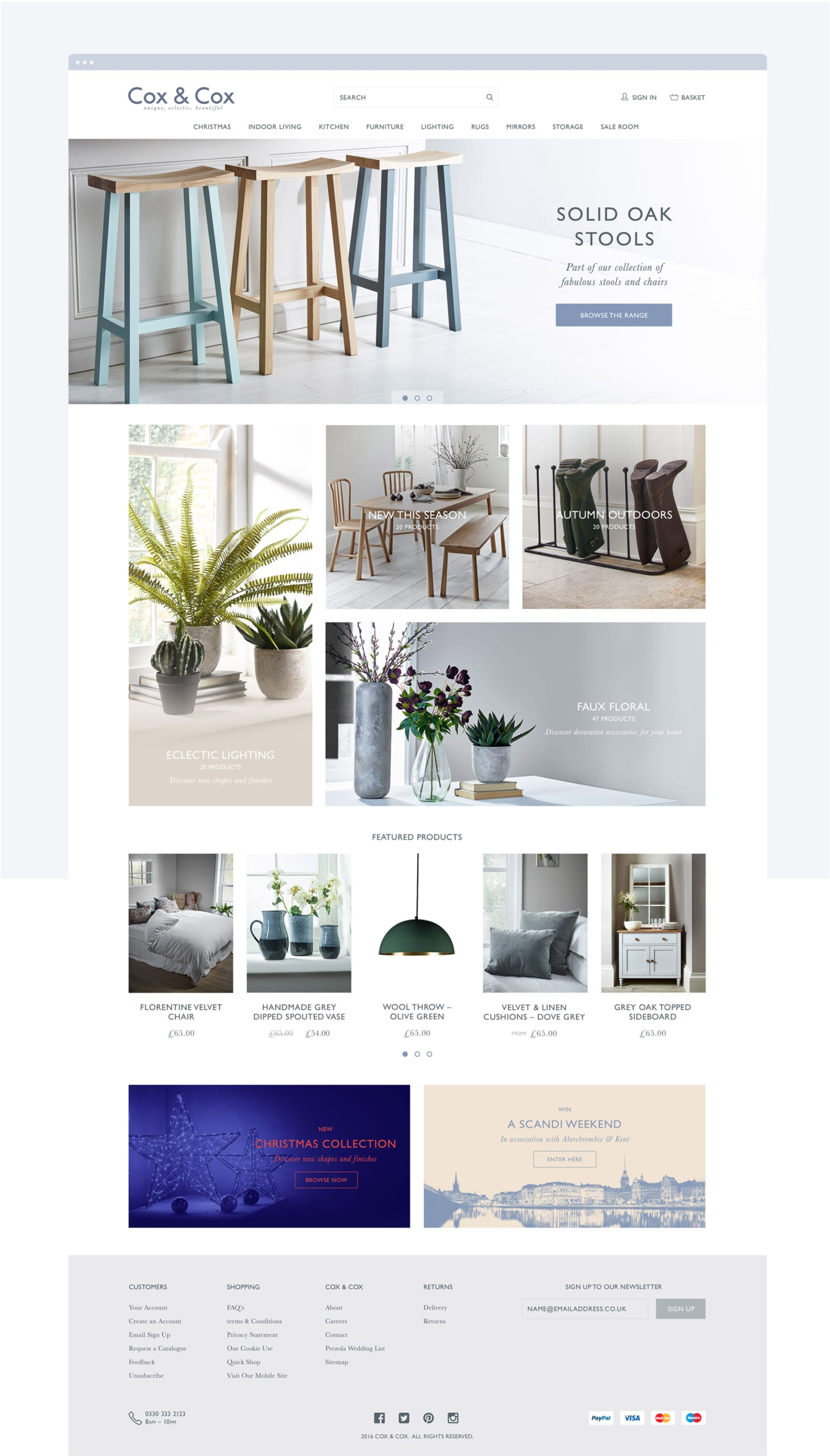 Design and art direction for a unique, eclectic and beautiful retailer