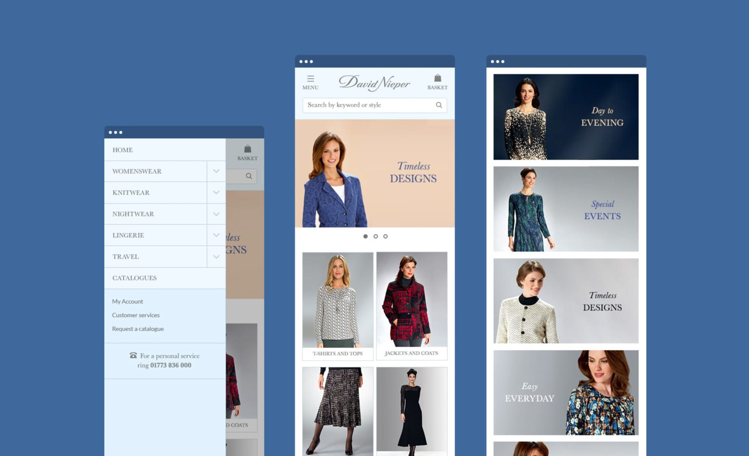 eCommerce design consultancy for fine fashion made in England