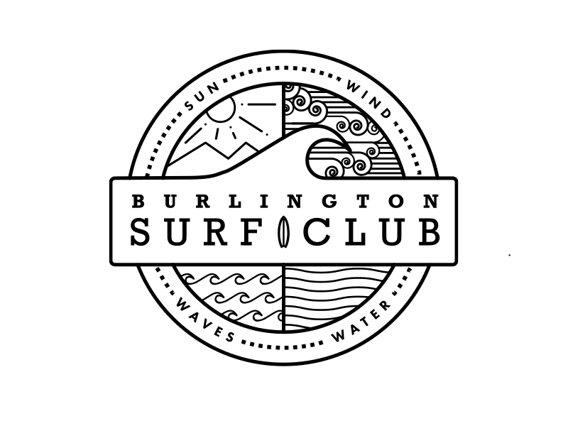 Burlington Surf Club Identity