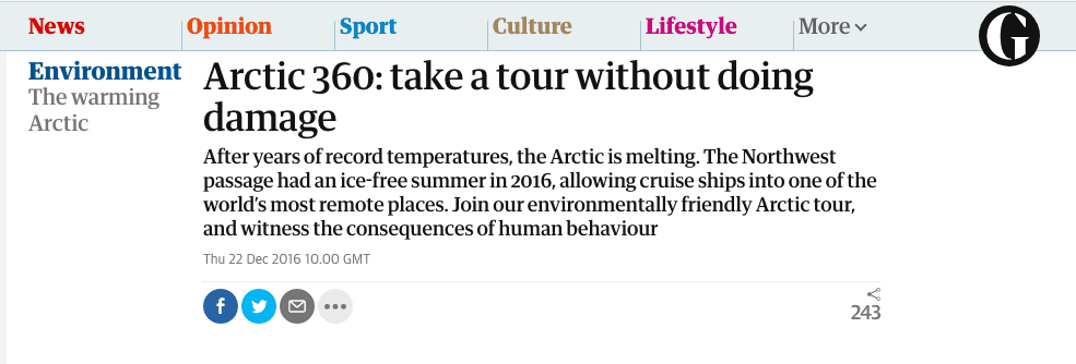 The Guardian - Arctic 360