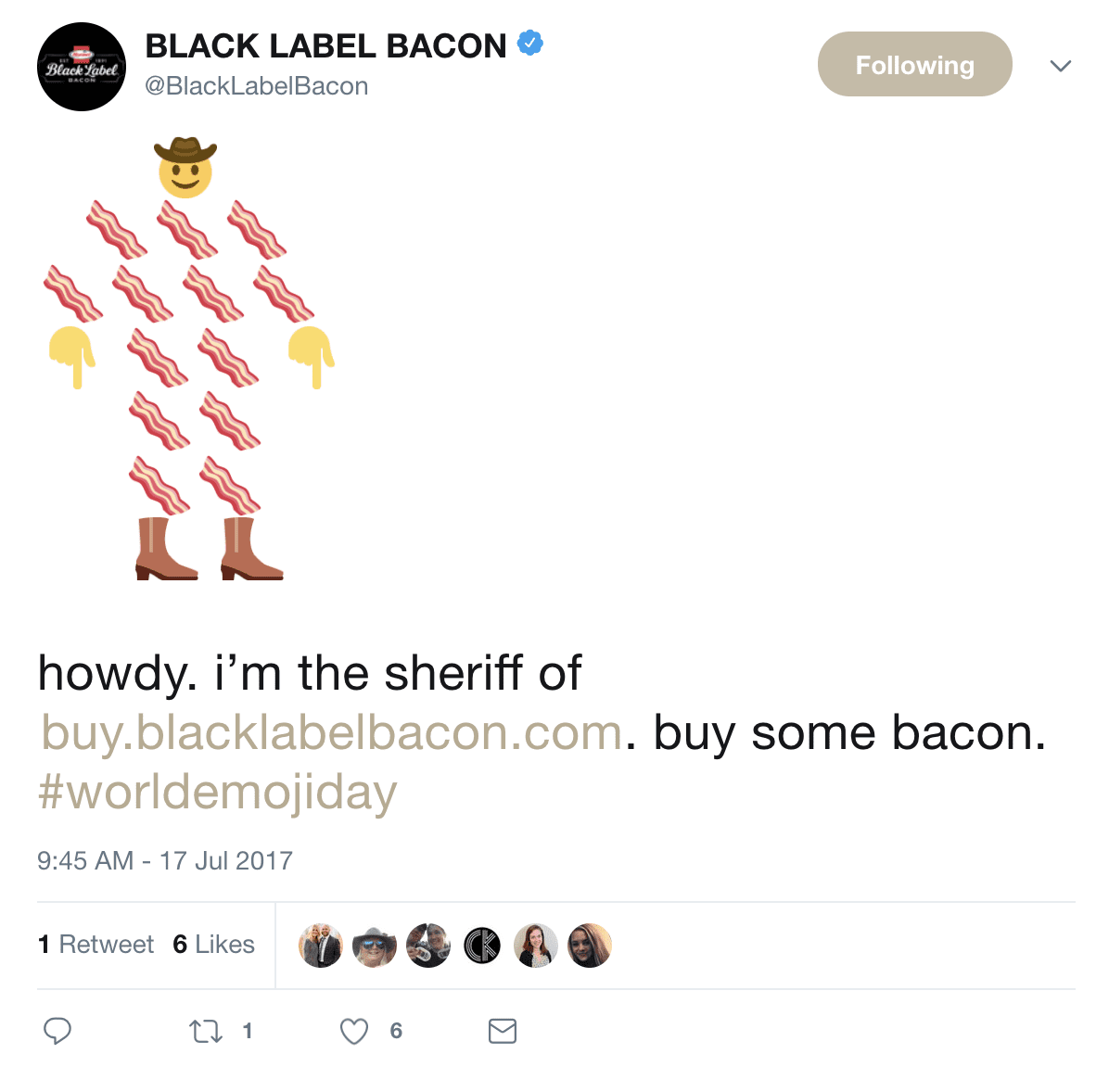Black Label Bacon Social