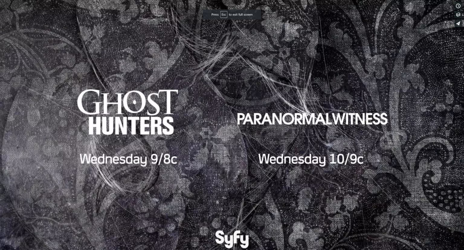 Syfy Crimson Peak / Ghost Hunters / Paranormal Witness Promo