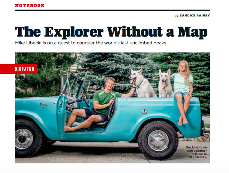 Interview With An Explorer for Men's Journal
