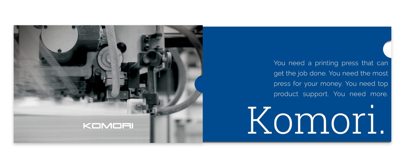 "Komori ""Do More"" Telescoping Brochure"