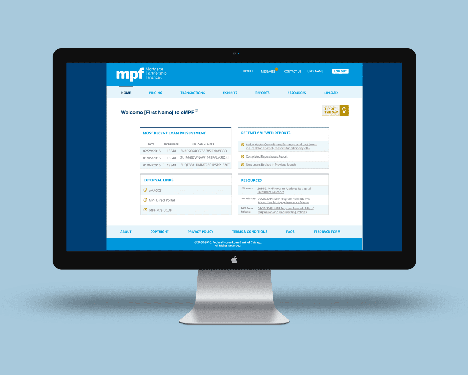 Redesign of Financial Loan Site