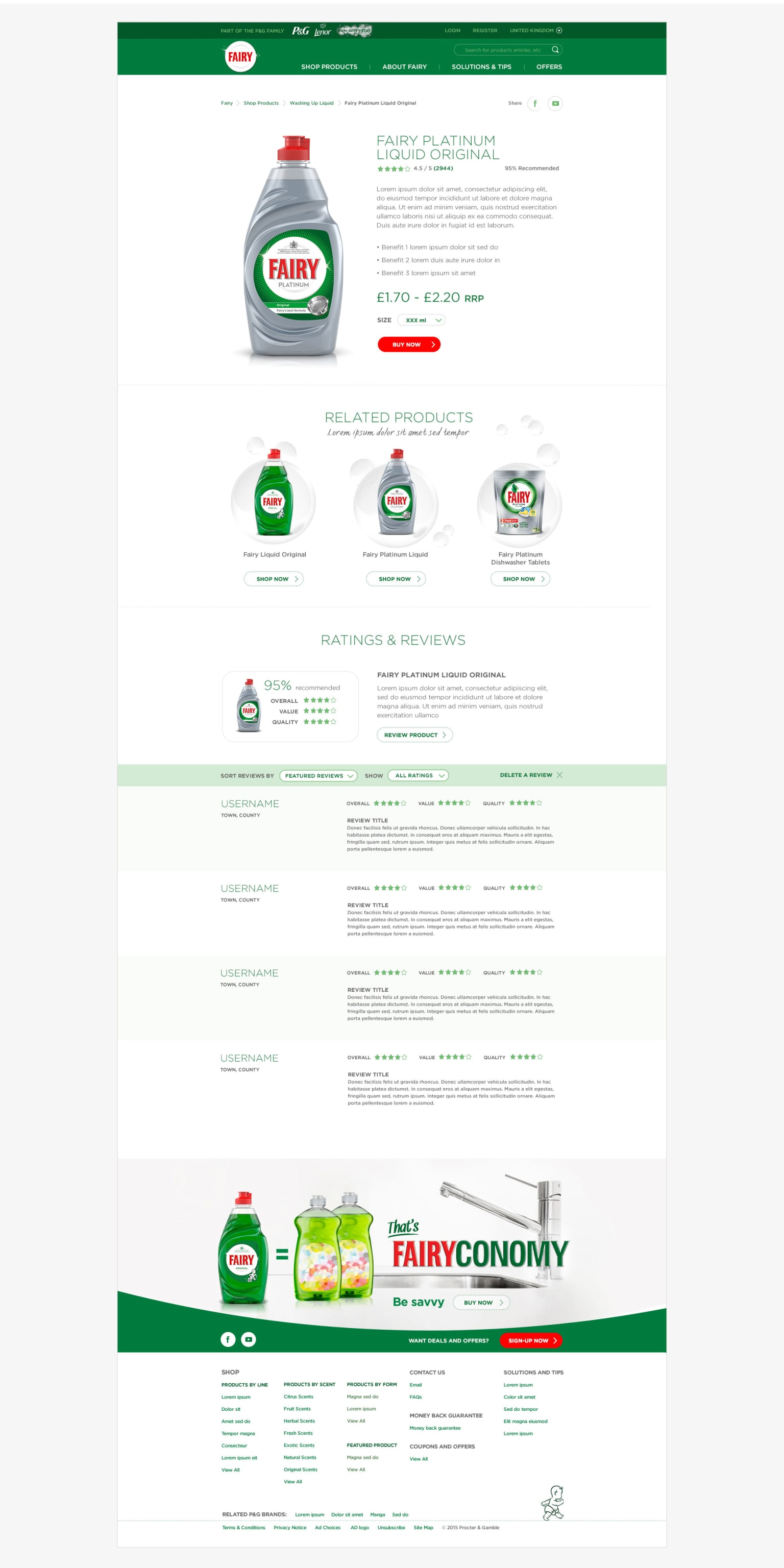 Fairy Liquid Website