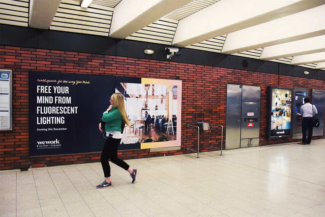 WeWork Subway Campaigns