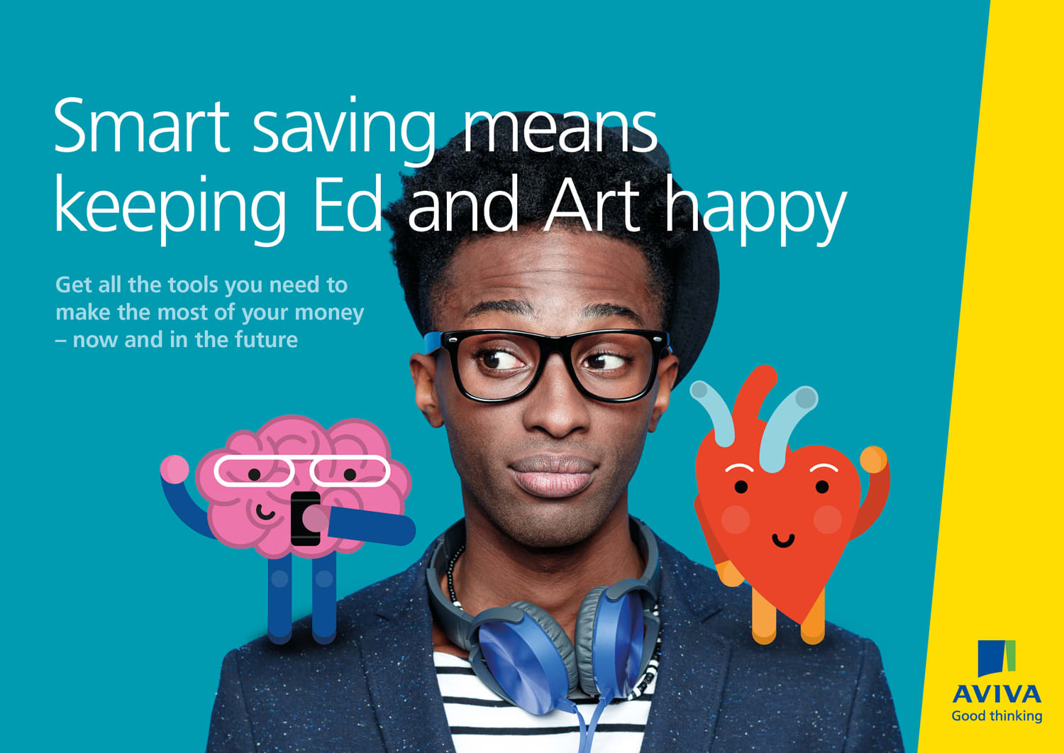 Aviva - Save Smart with Ed and Art - campaign concept