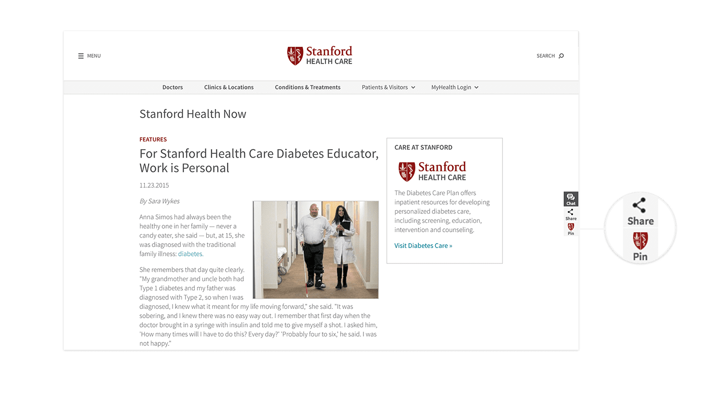 Stanford Health Care Website