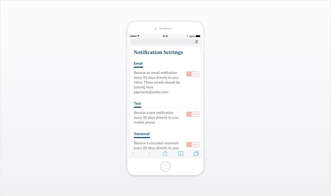 Enabling Patients to Manage Notifications