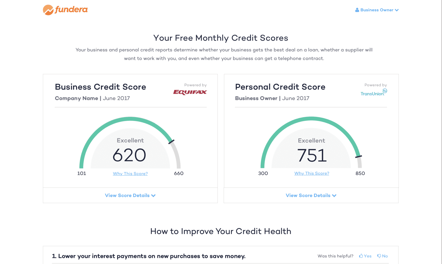 Empowering Small Business Owners with Free Credit Reports