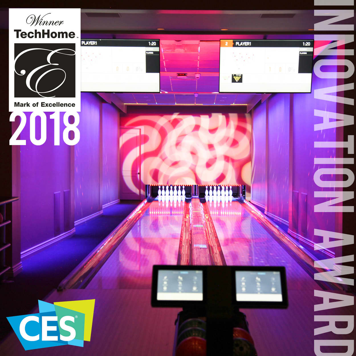 AI-driven Interactive Bowling Alley. CES2018 Innovation Award Winner.