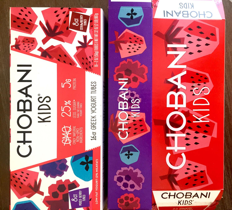 Chobani Kids Yogurt Tubes Redesign