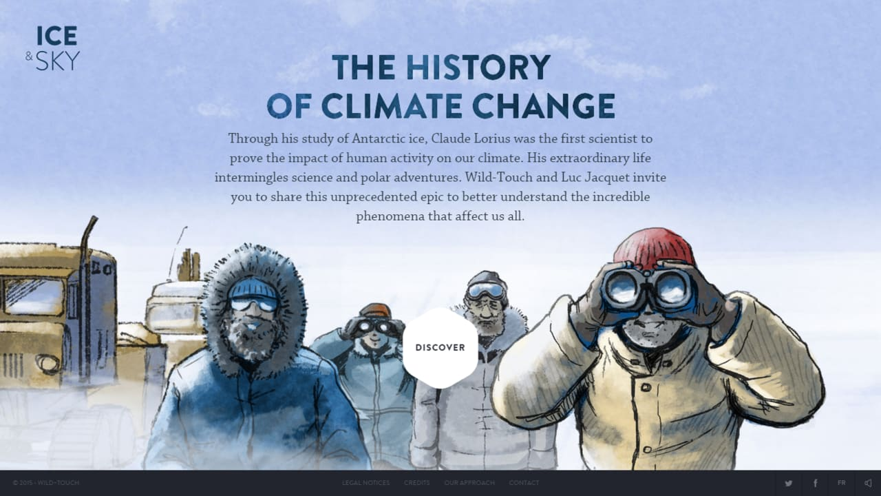 Ice and Sky - Educational platform about climate change