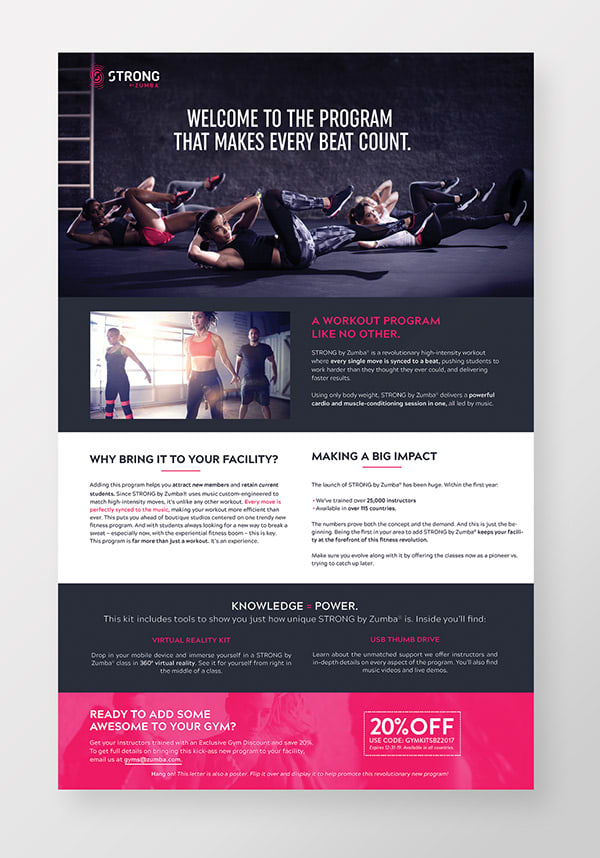 Gym Promotional Pack | Strong by Zumba