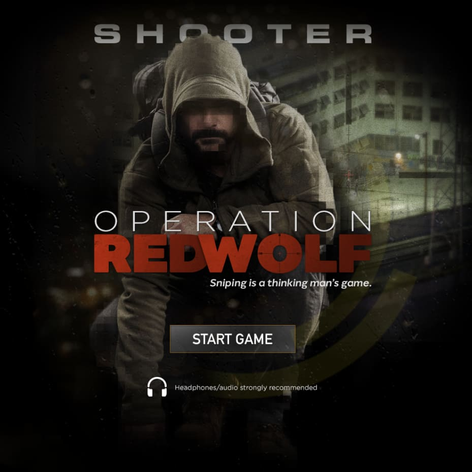 """SHOOTER """"Operation Red Wolf"""" web experience"""