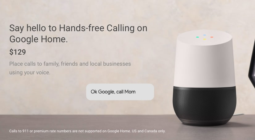 Launch of new assistant device w/ Google.