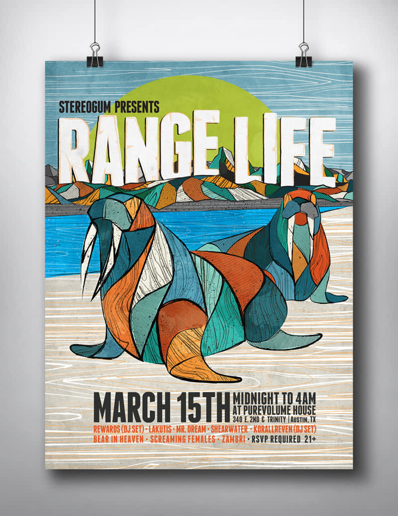 SXSW Silk Screen Poster