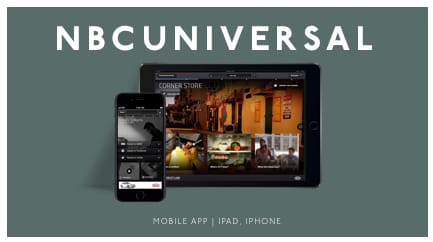 NBCUniversal - iPad | iPhone 2nd Screen Experience